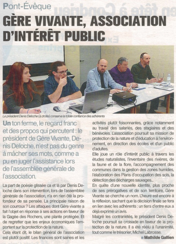 Article de la Tribune de Vienne du 18-25 mars 2013