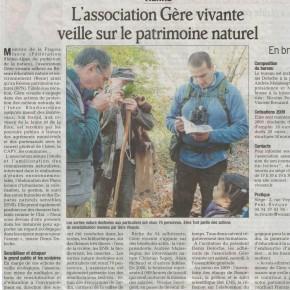 Article du Dauphiné Libéré du 03 mars 2009