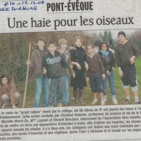 Article du Dauphiné Libéré du 15 mars 2008