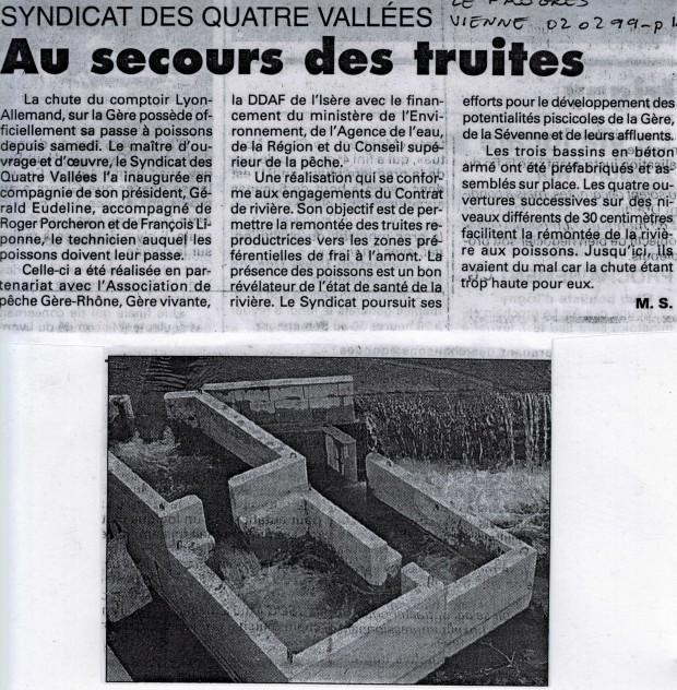 Article du Progrès du 02 février 1999