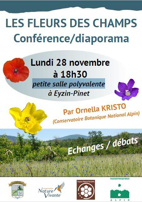 LES FLEURS DES CHAMPS (Conférence/diaporama)